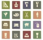 Art tools icon set Royalty Free Stock Photos