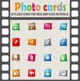 Art tools icon set Royalty Free Stock Image
