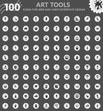 Art tools icons set Stock Photography
