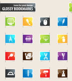 Art tools icons set Stock Photography