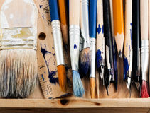 Art tools. Set of art tools on a white background Royalty Free Stock Image