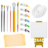 Art tools vector Royalty Free Stock Photos