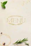 Art Traditional Italian-het menuachtergrond van het huisrestaurant Royalty-vrije Stock Fotografie