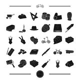 Art, transport and other web icon in black style.food, party, crime icons in set collection. Stock Photos