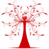 Art tree. Beautiful abstract art tree on white background Stock Photos