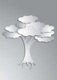 Art tree. Against grey background Royalty Free Stock Image