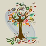 Art tree beautiful. For your design Royalty Free Stock Photo