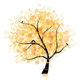 Art tree beautiful, golden leaf Royalty Free Stock Photos