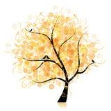 Art tree beautiful, golden leaf Royalty Free Stock Photos