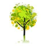 Art tree beautiful, grunge. Vector illustration vector illustration