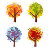 Art tree beautiful, grunge. Effect for your design royalty free illustration