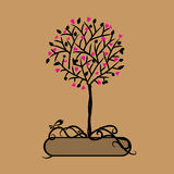 Art tree beautiful for your design Royalty Free Stock Images