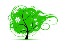 Art tree beautiful for your design Royalty Free Stock Photography