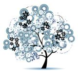Art tree beautiful for your design stock photography