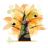Art tree beautiful for your design Stock Images