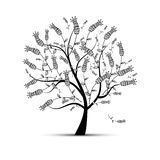 Art tree beautiful for your design Stock Image