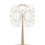 Art Tree and Birds Royalty Free Stock Photo