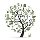 Art tree concept with business icons. For your design, vector Stock Photo