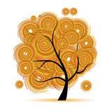 Art tree fantasy, autumn season Royalty Free Stock Photo