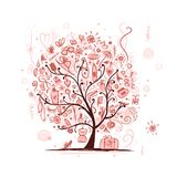 Art tree with female accessories for your design Stock Photo