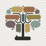 Art tree with frames, infographic concept Stock Photo