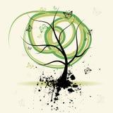 Art tree, grunge background. Art tree with grunge background, vector illustration vector illustration