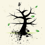 Art tree, grunge background Royalty Free Stock Image