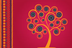 Art Tree. Intricately designer Ornamental Tree with rich use of colour to ingnite the festive spirit Stock Photo
