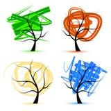 Art tree, seasons royalty free illustration