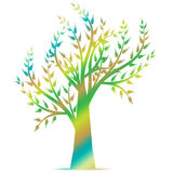 Art Tree Silhouette Stock Images
