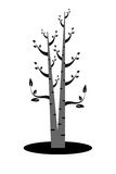 Art tree silhouette Royalty Free Stock Photo