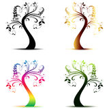 Art trees collection Royalty Free Stock Photos