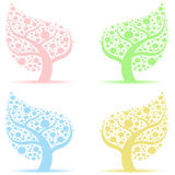 Art trees collection Stock Photo