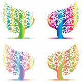 Art trees collection Royalty Free Stock Image