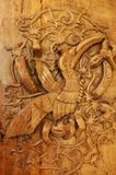 Art tribal d'oiseau de calao du Bornéo images stock