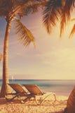 Art tropical beach background Royalty Free Stock Photo