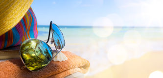 Art tropical beach background Royalty Free Stock Image