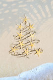 Art tropical Christmas holiday Royalty Free Stock Photo