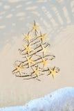 Art tropical Christmas holiday royalty free stock photo