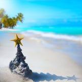 Art tropical Christmas holiday stock photography