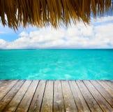 Art tropical sea and blue sky Stock Image