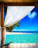 Art tropical seaside view background Royalty Free Stock Images