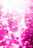 Art of true love. Abstract art of love with pink colors and light up Royalty Free Stock Photo