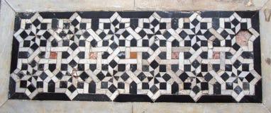 Art turc de tabouret avec les modèles géométriques Image libre de droits