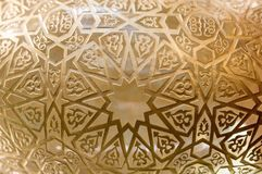 Art turc de tabouret avec les modèles géométriques Photos libres de droits