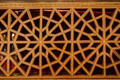 Art turc de tabouret avec les modèles géométriques Photo stock
