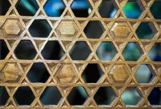 Art turc de tabouret avec les modèles géométriques Photos stock