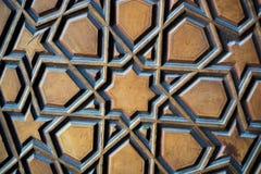 Art turc de tabouret avec les modèles géométriques Images stock
