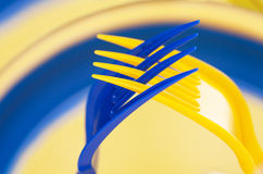Art, Two plastic forks, put together in a gesture of prayer Royalty Free Stock Photo
