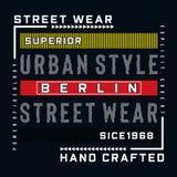 Art-Typografieentwurf Berlins städtischer stock abbildung